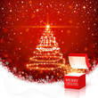 Christmas background with magic box