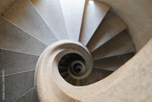 Abstract pattern of spiral stair