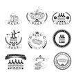 Beer Labels Set - Isolated On Background - Vector Illustration