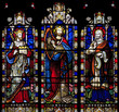 Stained Glass with Solomon, David and Hezekiah