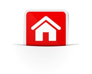 Schild Lasche rot Haus