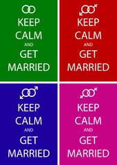 Wedding posters set