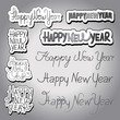 "Hand Drawn Lettering ""Happy New Year"" Set - Isolated"