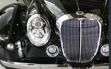 black classic car detail