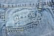 close up  blue jeans pocket