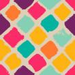 Hand-drawn squares seamless pattern