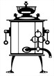 vector illustration samovar on white background
