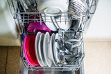 Dishwasher after cleaning process - shallow dof