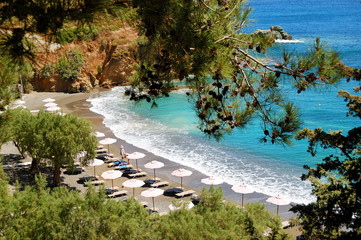 Beautiful beach and turquoise sea, Crete, Greece