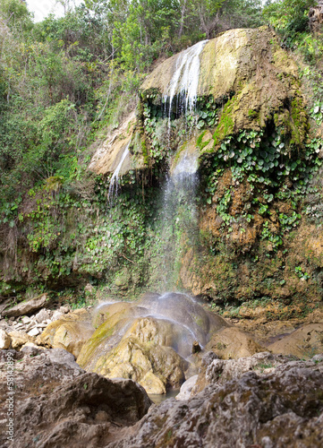 The waterfall at park of Soroa,touristic landmark in Cuba..