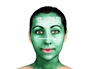 Face  with the Saudi Arabia flag