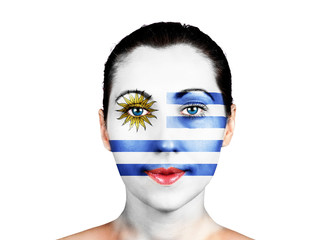 Face  with the Uruguay flag