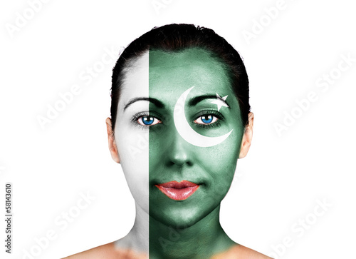Face  with the Pakistan flag