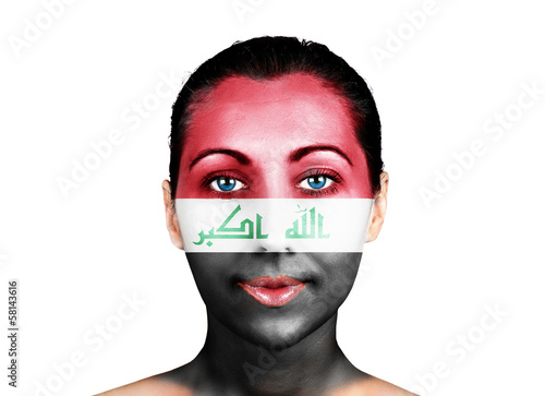 Face  with the Iraq flag