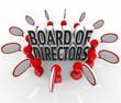 Board of Directors People Speech Bubbles Discussion Company Lead