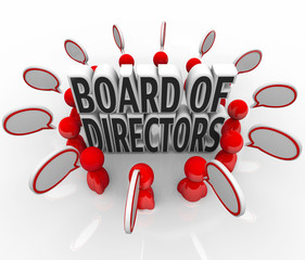 Board of Directors People Speech Bubbles Discussion Company Lead