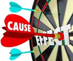Cause and Effect Dart Board Practice Equals Winning Game