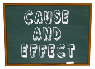 Cause and Effect Chalk Board Experiment Science Learning