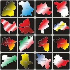 Bundesländer von Deutschland mit Landesfarben V2