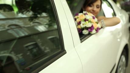 bride in the car 2