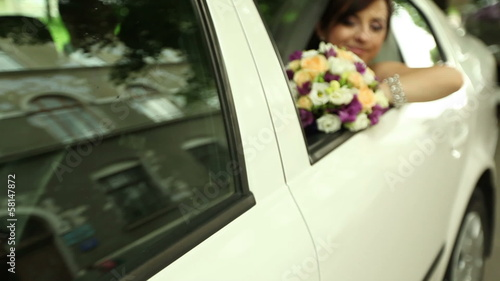 bride in the car 2