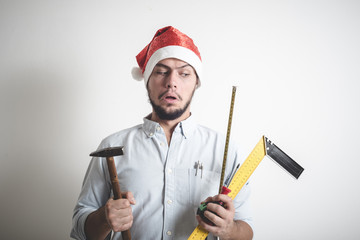 bricolage christmas stylish young man