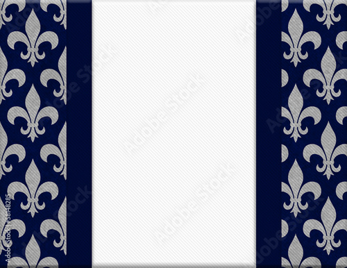Blue and Gray Fleur De Lis Textured Background