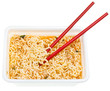 eating of cooked instant noodles