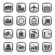 Cargo, shipping and logistic icons - vector icon set