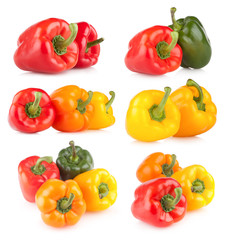 collection of 6 bell pepper images