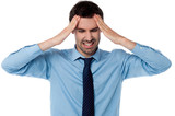 Man having severe headache
