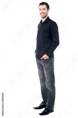 Stylish guy in trendy attire