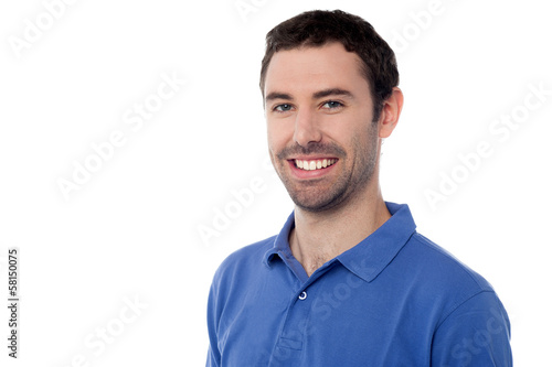 Casual shot of a young smiling man