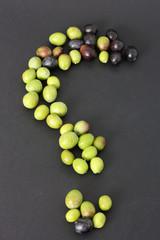 Punto interrogativo e olive