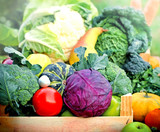 Fresh organic food - vegetables and fruits