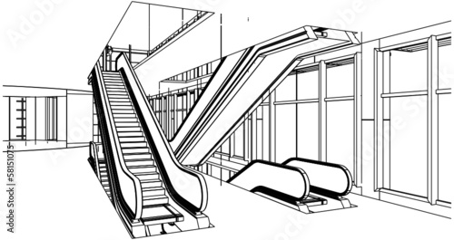 Abstract Construction With Escalator Vector