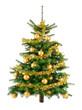 Pfiffiger Weihnachtsbaum mit goldenen Kugeln