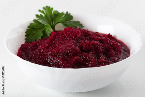 Bowl of beetroots