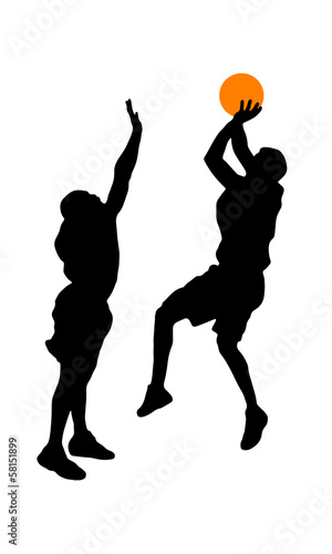 Basketball shoot and block