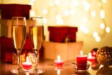 シャンパンとクリスマスオブジェクト