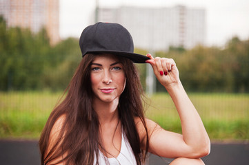 Portrait Of Sexy Woman With Cap