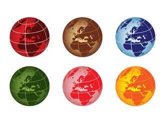 globe vector illustration - europe and africa