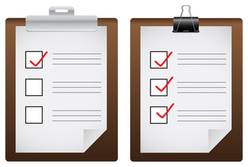 Two check list board icons (vector)