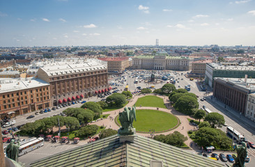 St.ISAAC SQUARE IN SANKT PETERSBURG