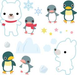 シロクマとペンギン