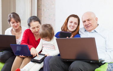 family  with few  communication devices