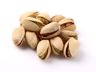Pistachios in closeup