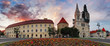 Zagreb Cathedral - panorama, Croatia