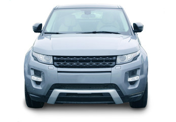 SUV front isolated