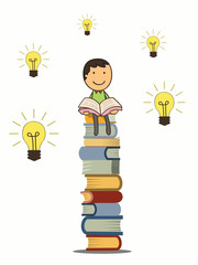Reading give idea and knowledge